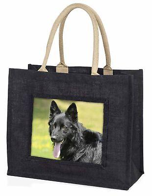 schwarzer Deutscher Schäferhund große Einkaufstasche Weihnachten Geschenkidee,