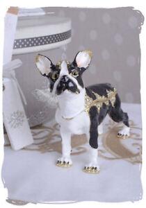 Hell Schmuckdose Hundefigur Pillendose Boston Terrier Schmuckkästchen Hund Professionelles Design