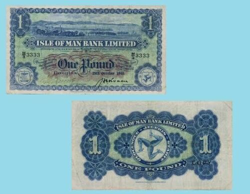Reproductions Isle of Man 1 Pound 1943 UNC