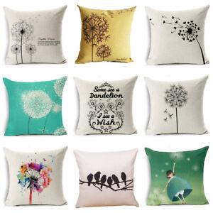 Simple-Fresh-Dandelion-Linen-Pillow-Case-Throw-Cushion-Cover-Home-Decor-18-034