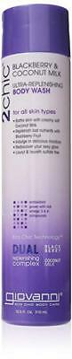 Diplomatic Giovanni 2chic Ultra Replenishing Body Wash, Blackberry And Coconut Milk,10.5 Oz Jade White