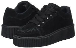 T-U-K-a9174-Unisex-Ante-Negro-entrelazar-CASBAH-Creeper-plataforma-zapatillas