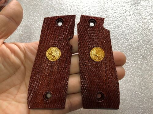 ALL CHECKERED HARDWOOD THAI HANDMADE COOL Grip For COLT GOVERNMENT 380 GRIP
