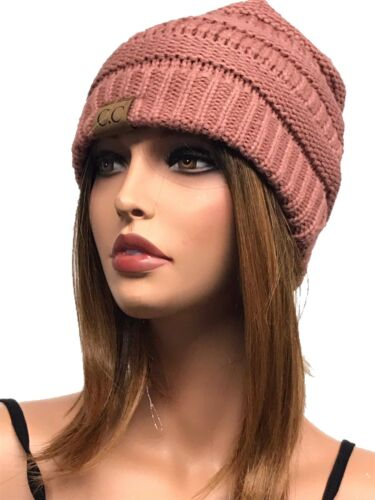 Trendy Warm Chunky Soft Stretch Cable Knit Beanie Skully Hats
