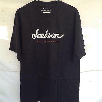 "BLACK XL Jackson Guitars /""The Bloodline/"" Logo Tee Men/'s T-Shirt"