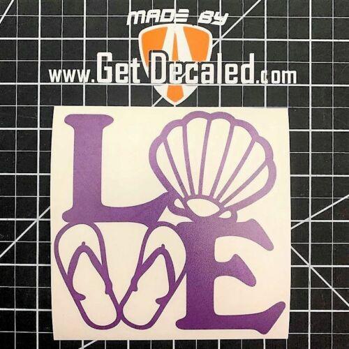 Beach Love High Quality Custom Vinyl Decals