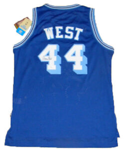 329bda618 Image is loading JERRY-WEST-AUTOGRAPHED-SIGNED-LOS-ANGELES-LAKERS-BLUE-