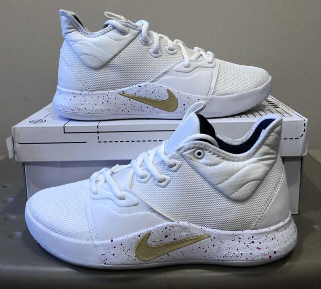 Nike PG 3 White Gold Navy Ao2607-100