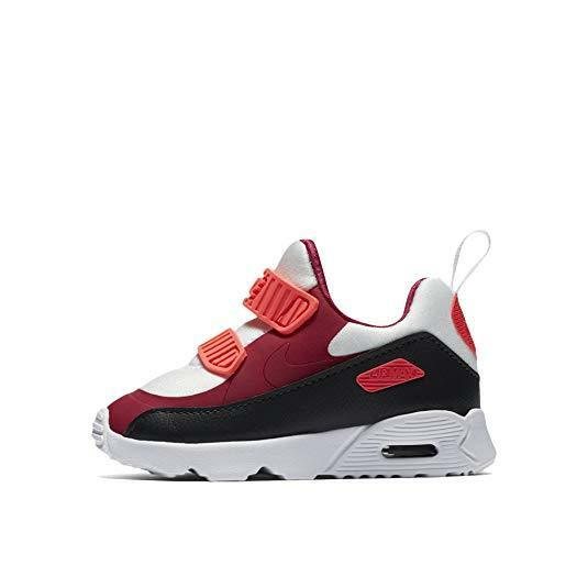 Nike Air Max Tiny 90 (TD) 881924-101 Vit Maroon Anthracite Toddler Girls Skor