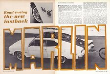 1965 AMC MARLIN 327/270-HP  ~  ORIGINAL 8-PAGE ROAD TEST / DESIGN ARTICLE / AD