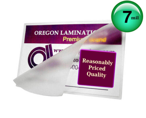 7 Mil 5x7 Photo Hot Laminating Pouches 5-1//4 x 7-1//4 by Oregon Laminations 100