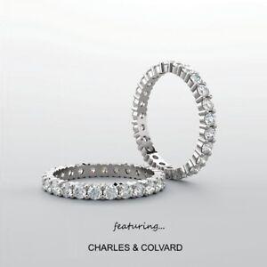 14K-Gold-2-00-Carat-Moissanite-Forever-One-Eternity-Ring-Charles-amp-Colvard