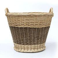 Large Wicker Round Storage Log Basket