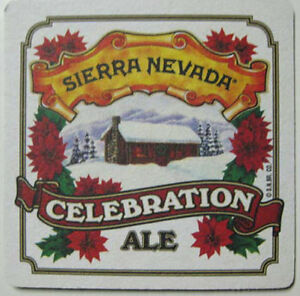 SIERRA-NEVADA-CELEBRATION-ALE-Beer-COASTER-Mat-CALIFORNIA