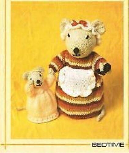 Momia Mouse Baby Mouse Woolly wotnots Anne Carol Creaciones Tejer patrón 99P