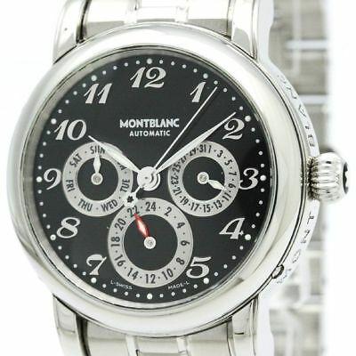 Polished MONTBLANC Meisterstuck Day Date GMT Automatic Mens Watch 7018 BF309758