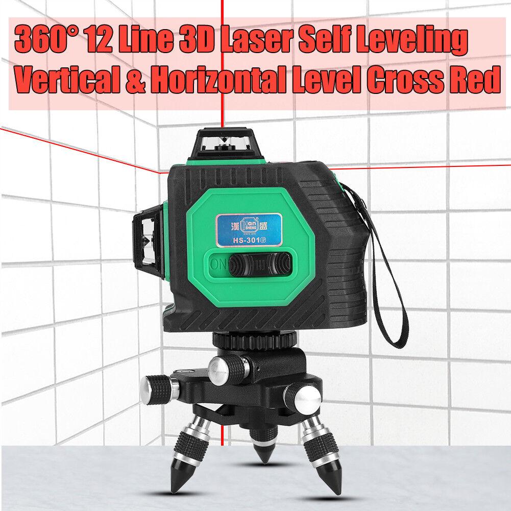 3D Green Laser Level Self Leveling 12 Lines 360 Degree Horizontal&greenical Cross