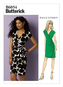 1ae48eff8e7a Image is loading Butterick-Easy-SEWING-PATTERN-B6054-Misses-Pleated-Wrap-