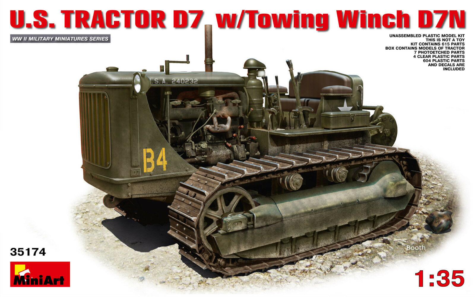 U.S. Tractor D7 w Towing Winch D7N  1 35 MiniArt