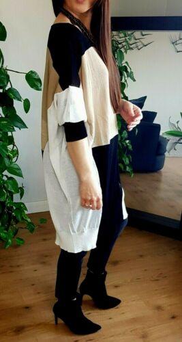 Silvian Heach Or Noir Blanc délicat oversize Pull Large