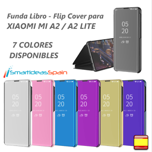 FUNDA-XIAOMI-MI-A2-A2-LITE-CARCASA-FLIP-COVER-CLEAR-VIEW-LIBRO-TAPA-ESPEJO-6X