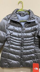 NWT-THE-NORTH-FACE-WOMEN-039-S-ACONCAGUA-JACKET-II-SHINY-MID-GREY-SIZE-S-SMALL