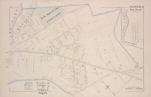 SPRING NEW MOUNT IDA CEMETERY ATLAS MAP 1881 TROY RENSSELAER COUNTY NY ELMWOOD