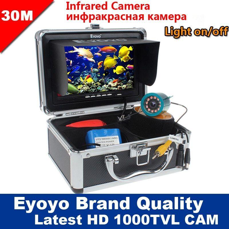 7  Color Monitor bajo el agua mar 15-50M Cámara De Pesca Buscador de los pescados 1000TVL HD IR