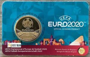 2,50 euros commémorative Belgique 2021 football UEFA EURO 2020 FDC Coincard FR