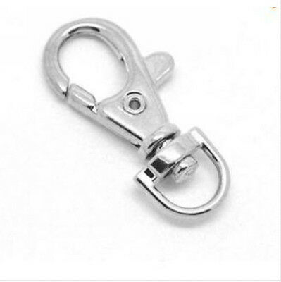 5/20Pcs Silver Plated Lobster Swivel Clasps For Key Ring 33x15mm Free Ship