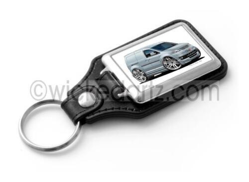 WickedKarz Cartoon Car Volkswagen VW Caddy Sportline Van Silver Stylish Key Ring
