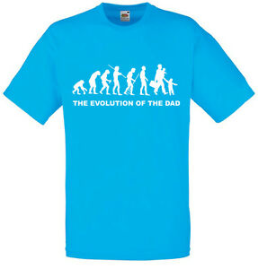 Evolution-of-Dad-Funny-Men-039-s-Printed-T-Shirt-Crew-Neck-Short-Sleeve-Cute-Tee