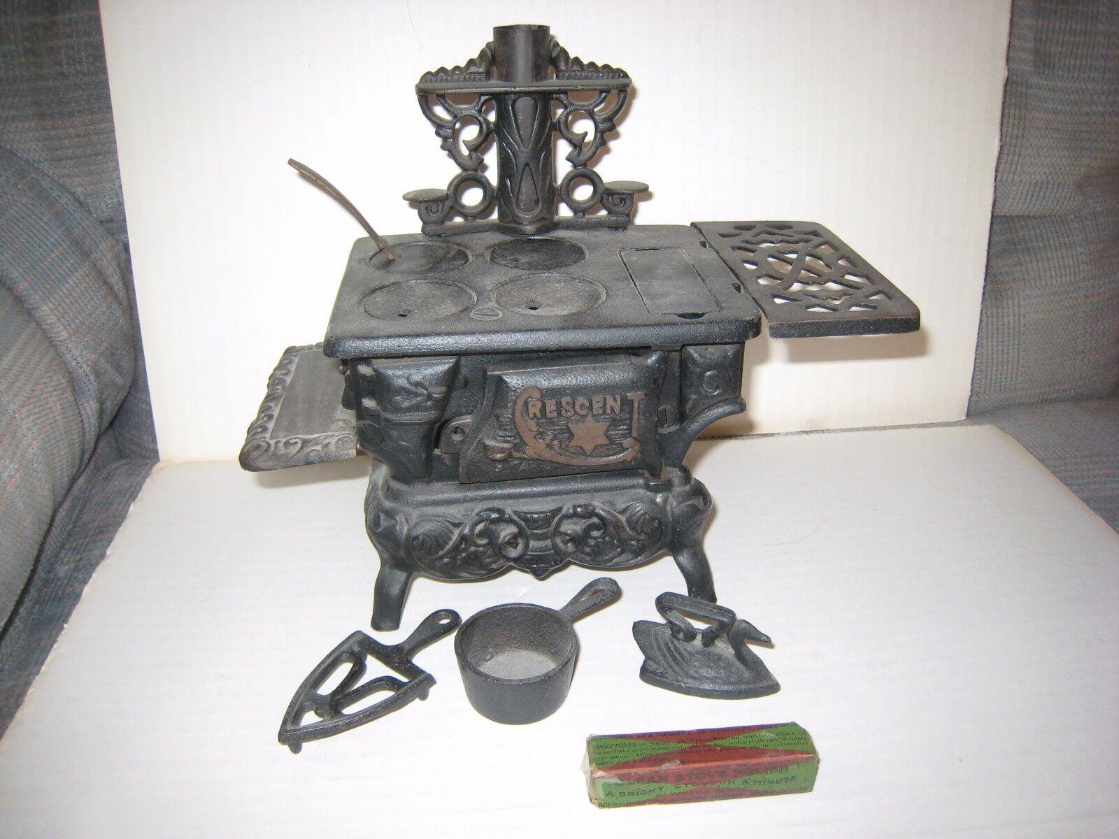 Cajas pulidoras y accesorios para hornos mini mini mini - lunares de hierro fundido de juguetes antiguos. 95b