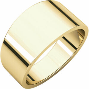 7dcec68662251 Details about 10KY 8MM WIDE CIGAR BAND, 10K YELLOW GOLD, FLAT TAPERED BAND,  SIZE 10