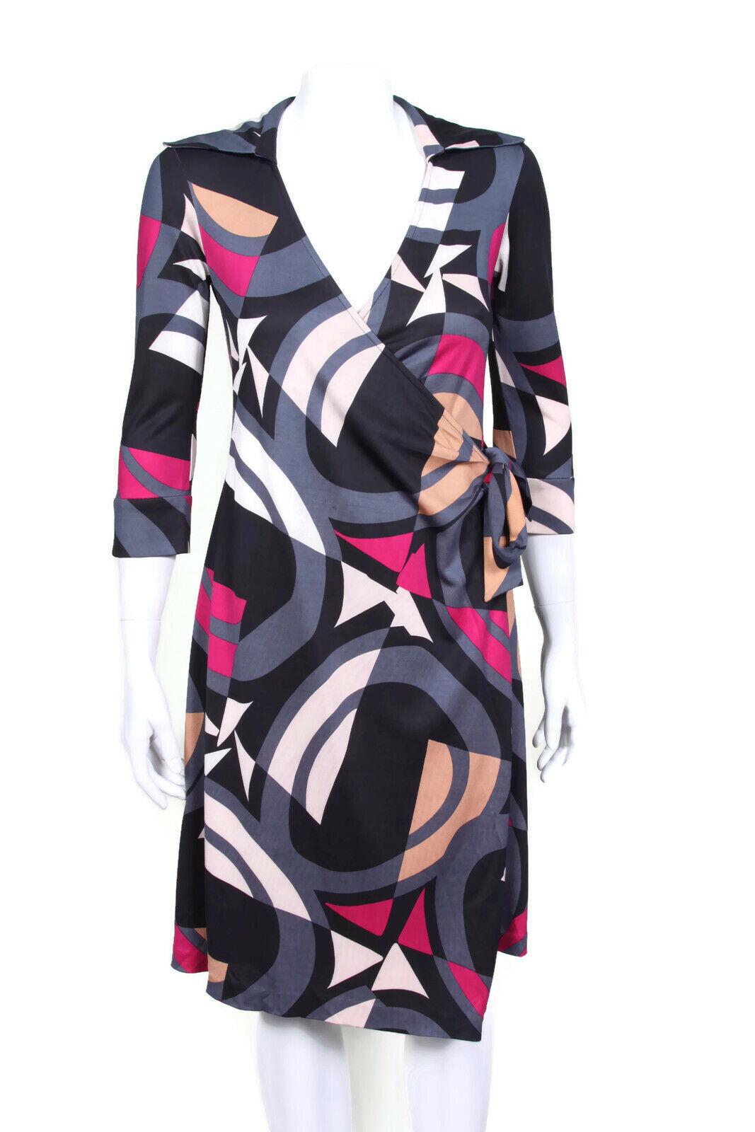DIANE VON FURSTENBERG Julianetta Maternity Wrap Dress Abstract Silk size S