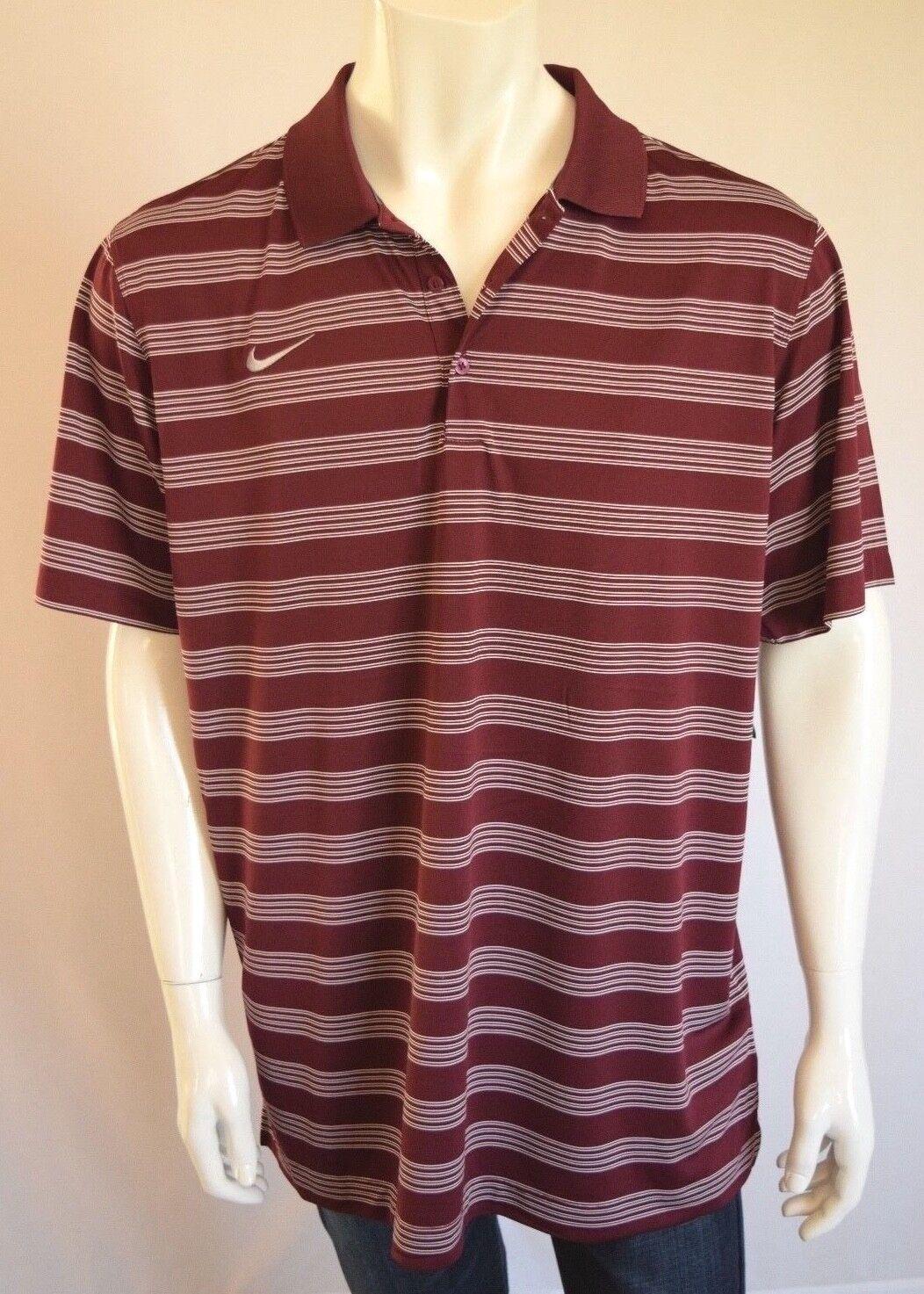 Nike Dri Fit Camisa Polo de tiempo  de juego para Hombres Talla Grande en profundo vino granate  punto de venta en línea