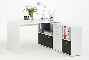 Büro eckschreibtisch weiß  Schreibtisch Computertisch Eckschreibtisch Winkelschreibtisch Büro ...