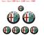 7pcs-Alfa-Romeo-Emblem-logo-klassisch-147-156-159-164-Brera-Spider-939-MITO Indexbild 1