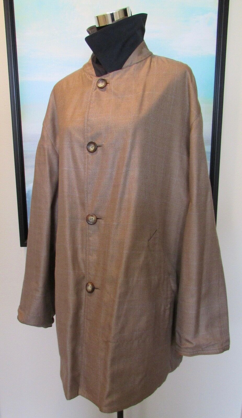 SULKA  Cashmere Cotton Reversible Coat Größe 54/L