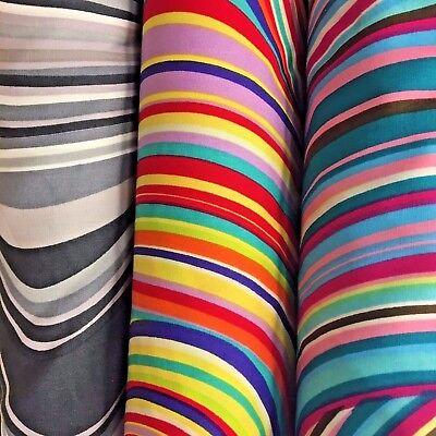 Remolino de arco iris de tela años 60 Psicodélico Hippy Retro 100/% Algodón FQ 50x56cm