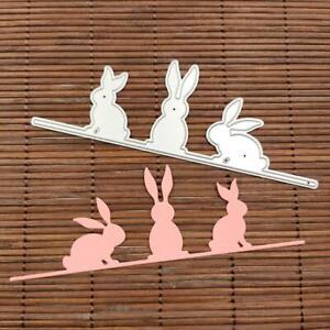 Easter-Bunny-Rabbit-Metal-Cutting-Dies-Stencil-DIY-Scrapbooking-Album-Stamp-Card