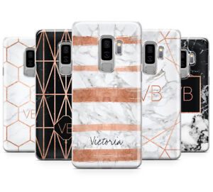 detailed look a6351 c379e Details about PERSONALISED ROSEGOLD MARBLE/INITIALS PHONE CASE FOR SAMSUNG  GALAXY S9 PLUS