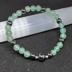 Green Aventurine Heart Chakra stretch Bracelet  gemstone crystal boho healing
