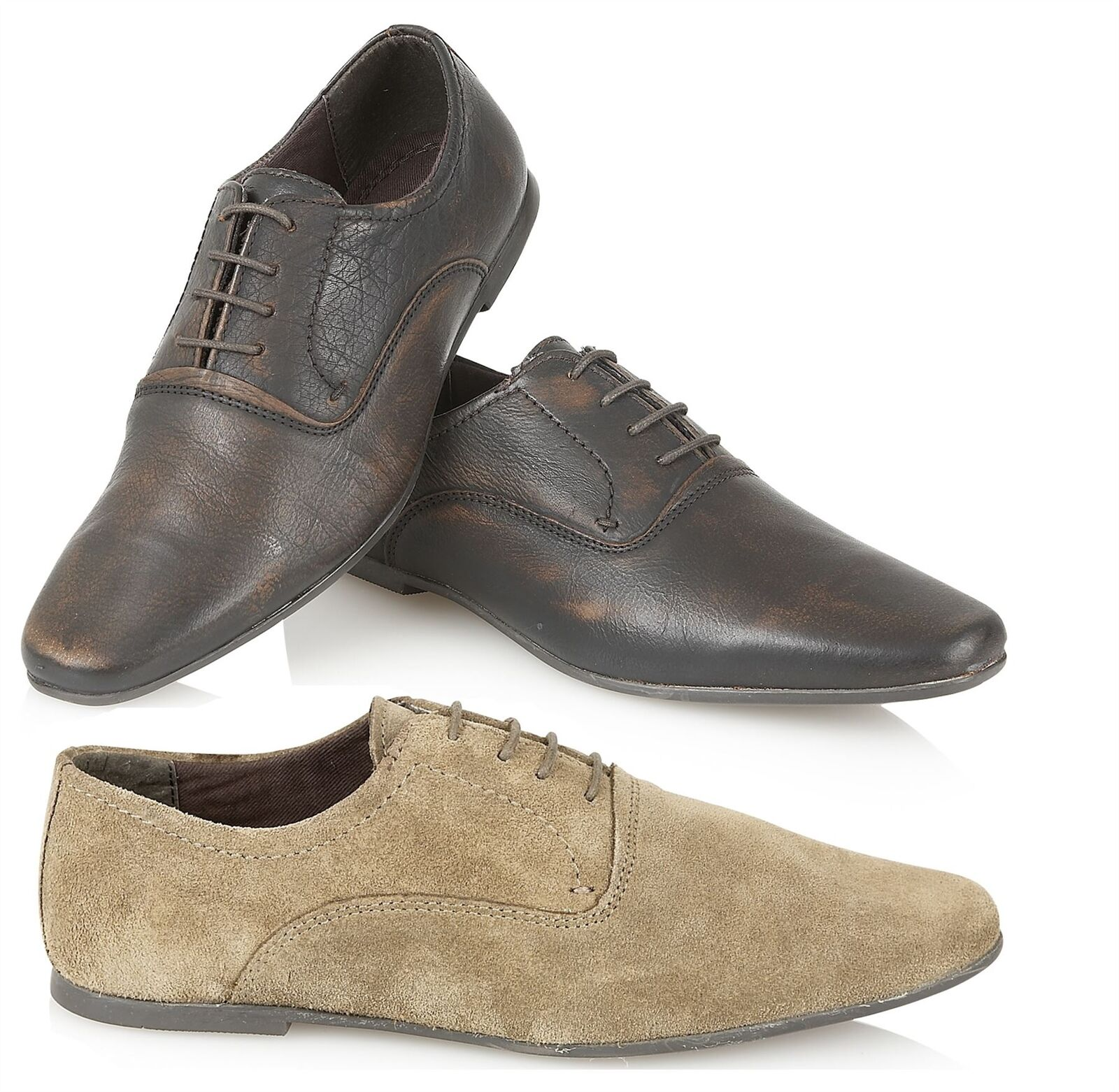 Boys Real Leather Distressed Formal Lace up shoes with Variable sizes