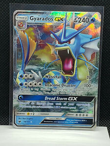1 x Pokemon Gyarados GX Sli Ultra Rare Sun /& Moon: Crimson Invasion 18//111