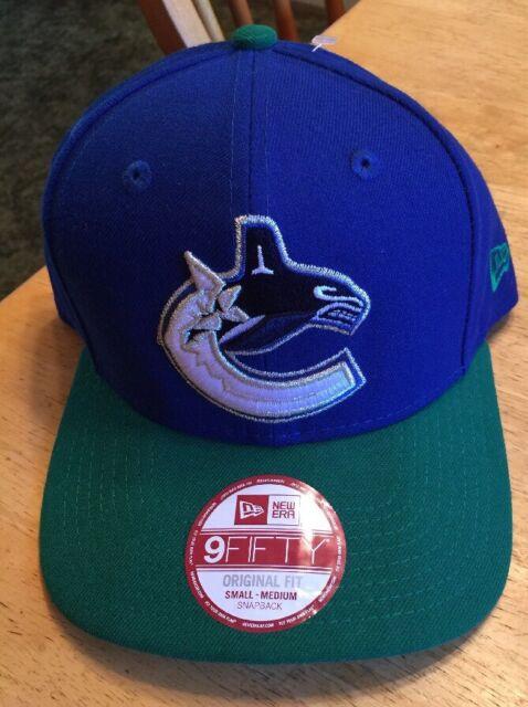 New NHL Vancouver Canucks New Era 9Fifty Original Fit Snapback Cap Small- Medium 5d311651b48