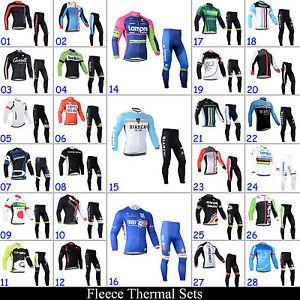 New-Men-039-s-Winter-Bike-Clothing-Cycling-Jerseys-Pants-Suits-Fleece-Sports-Wear