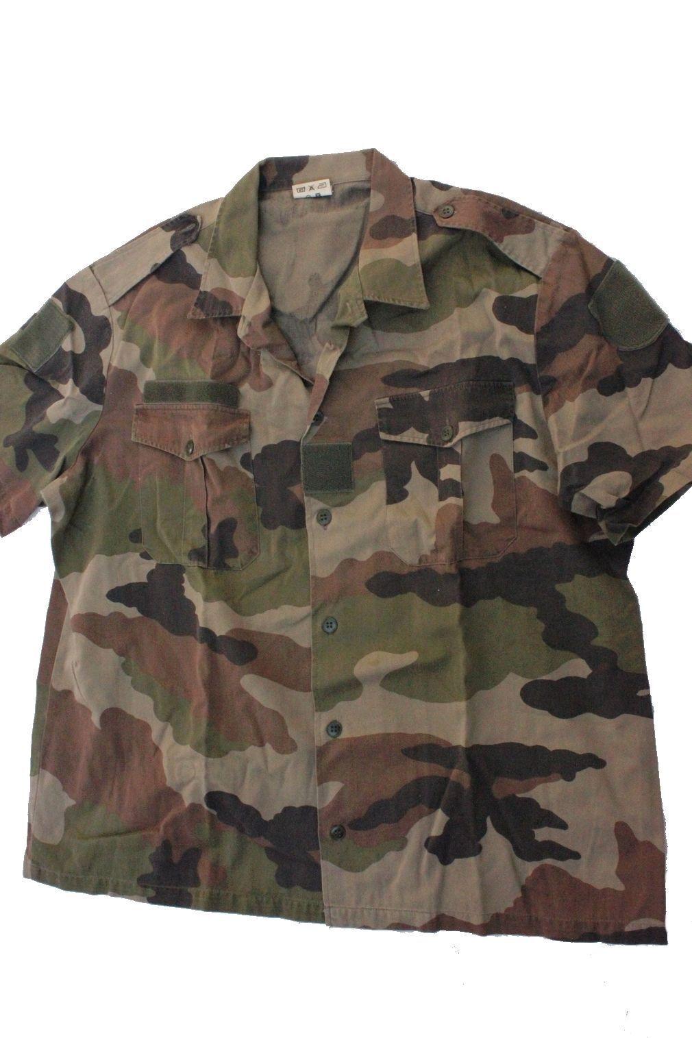 -*- Taille S ( 37-38) Chemise manche courte Armée Française Camouflage CE