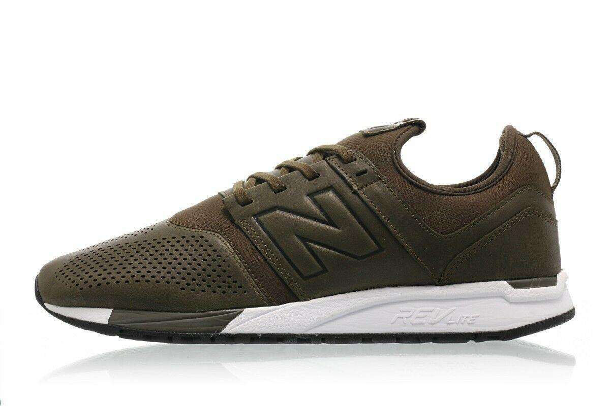 New balance 247 luxe leather leather leather olive Uomo scarpe da ginnastica lifestyle new shoes mrl247no 35a20b
