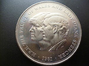 1981 Crown Coin The Royal Wedding Of Prince Charles Amp Lady